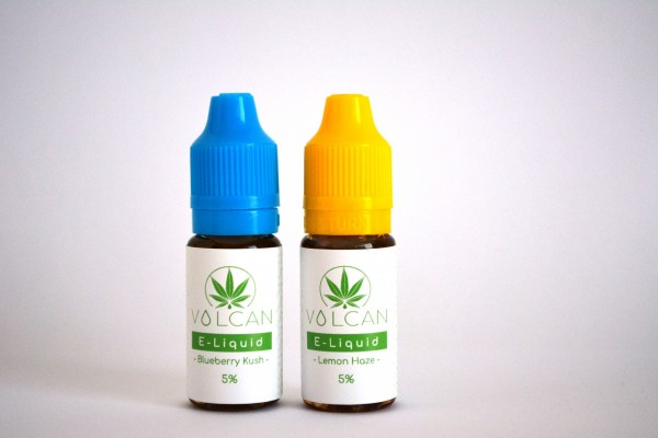 VOLCAN CBD E-Liquid 2er-Set LEMON HAZE und BLUEBERRY KUSH 5% (500mg)
