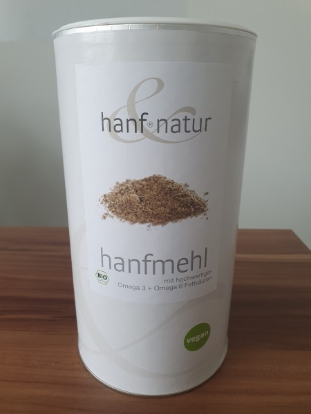 Bio Hanfmehl mit hochwertigen Omega 3 + Omega 6 Fettsäuren VEGAN (1 Kg)