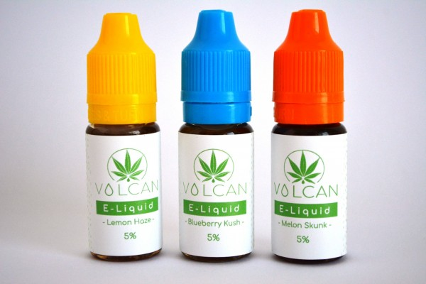 "CBD E-Liquid 3er-Set VOLCAN ""LEMON HAZE"", ""MELON SKUNK"" und ""BLUEBERRY KUSH"" 5% (500mg)"